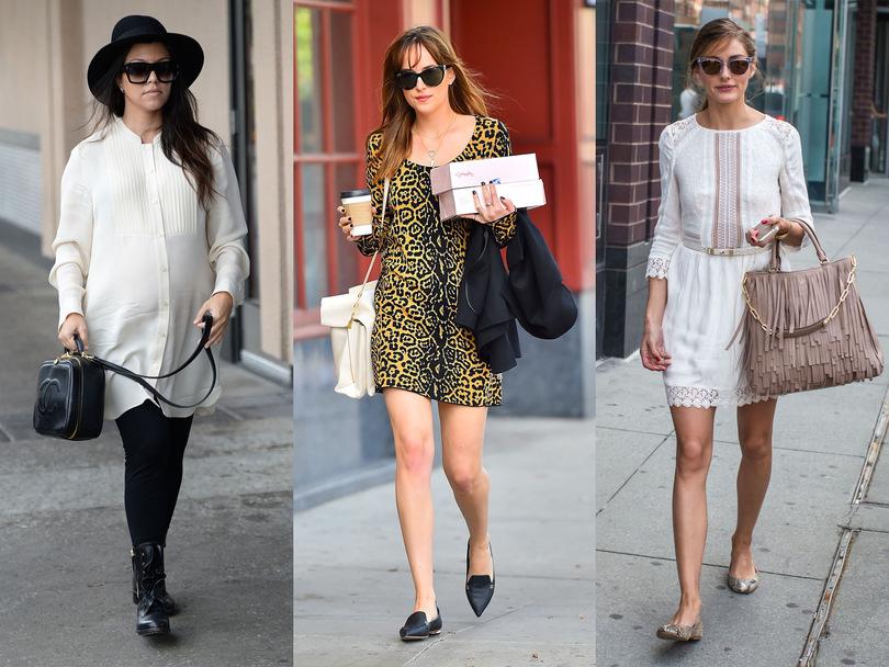combinaciones-perfectas-de-vestidos-primaverales-con-zapatos-bajos
