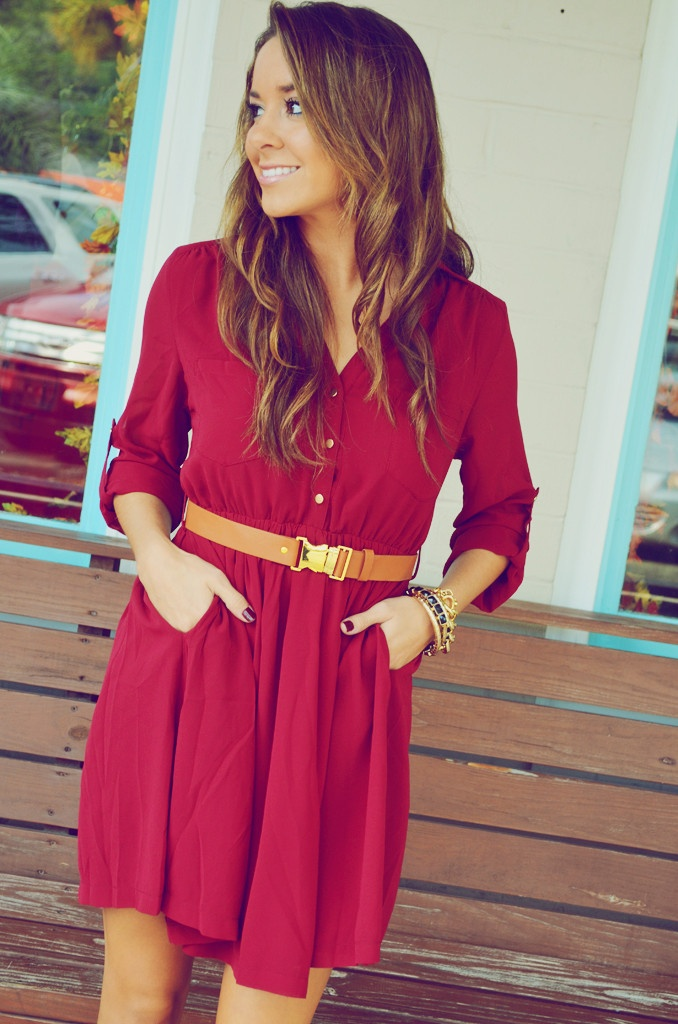 red casual dresses (5)