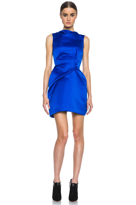 vestido azul electrico super corto