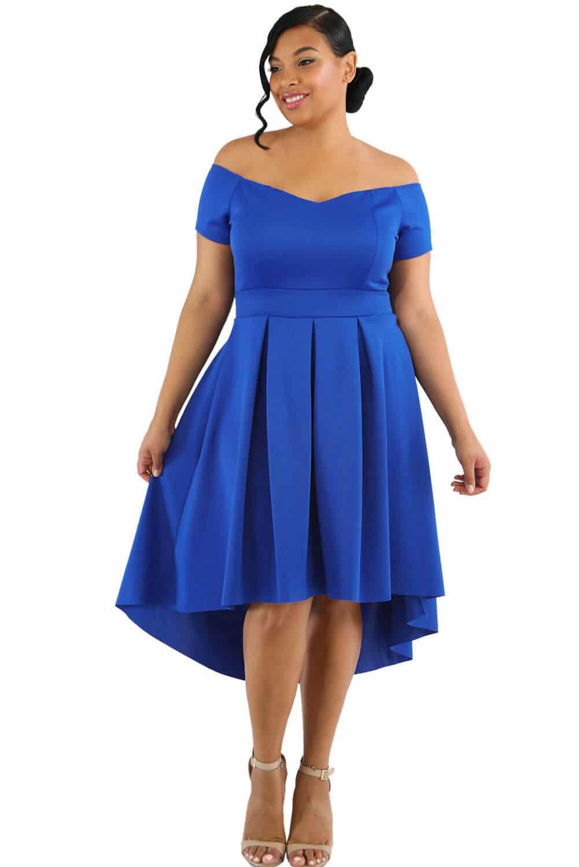 vestidos azul electrico gordita