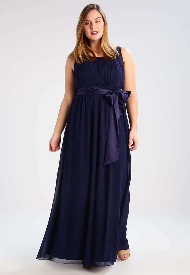vestidos azul largos gordita
