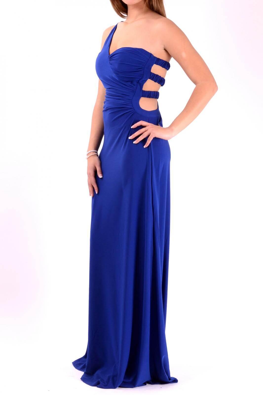 vestidos azul noche largo escote