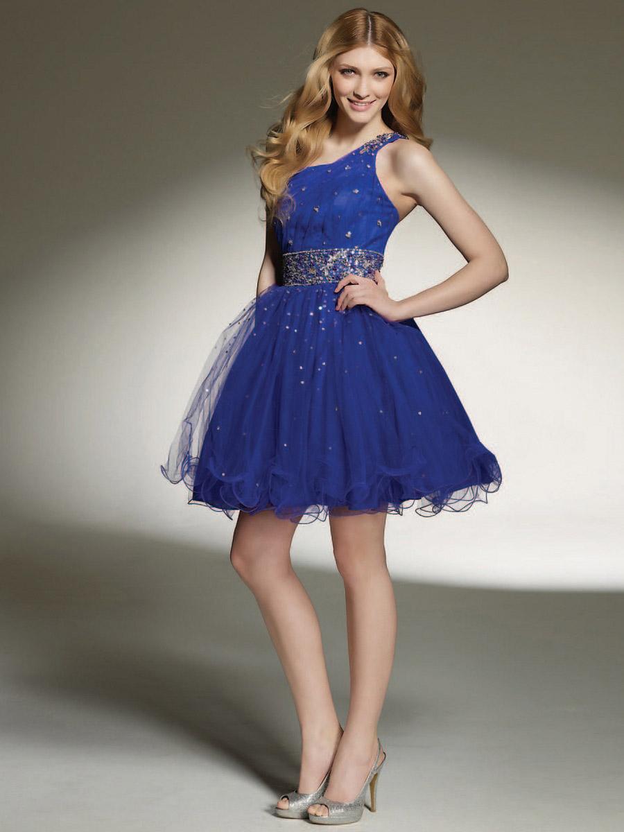 vestidos azul rey moderno