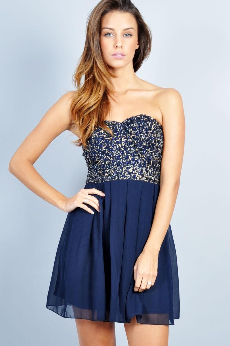 vestidos azules cortos de fiesta ligero