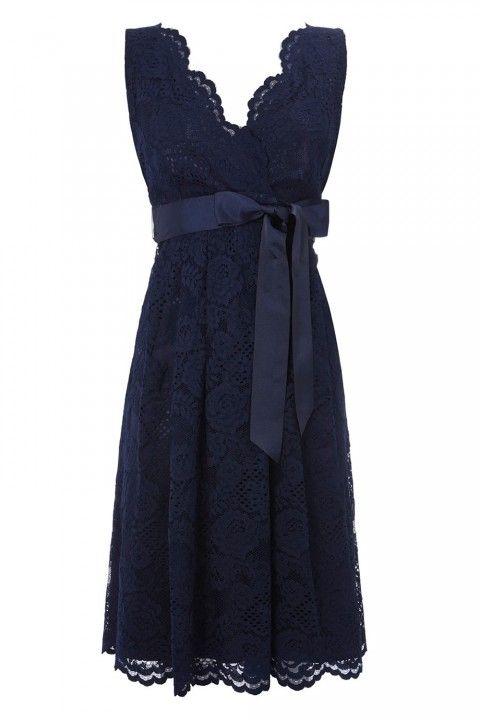 vestidos azul marino largo