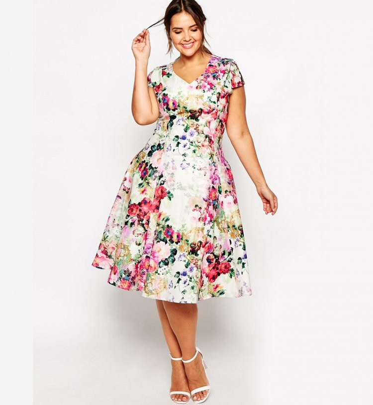 Vestidos de dia floreados 2015