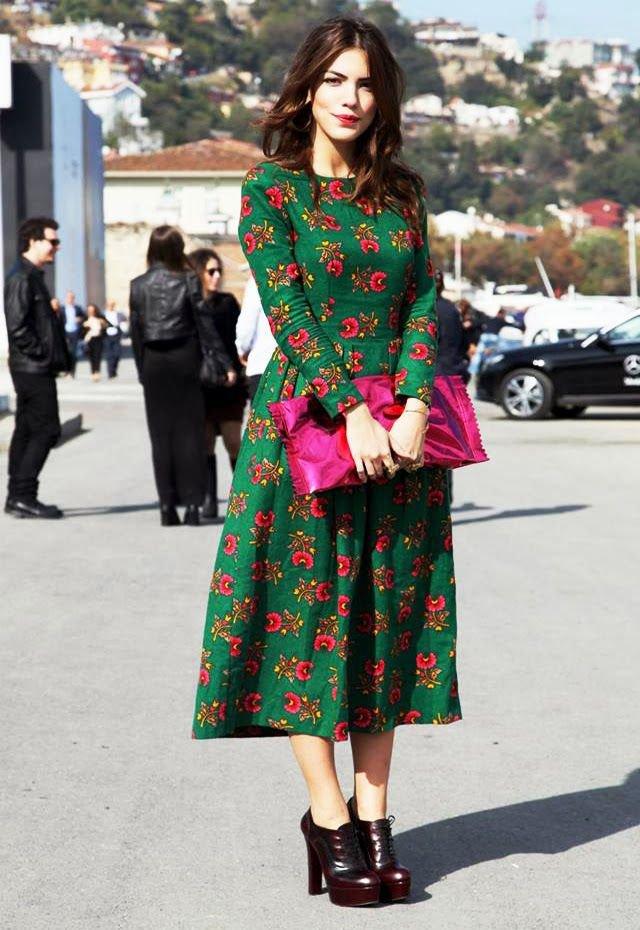ideas-para-combinar-un-vestido-verde 5