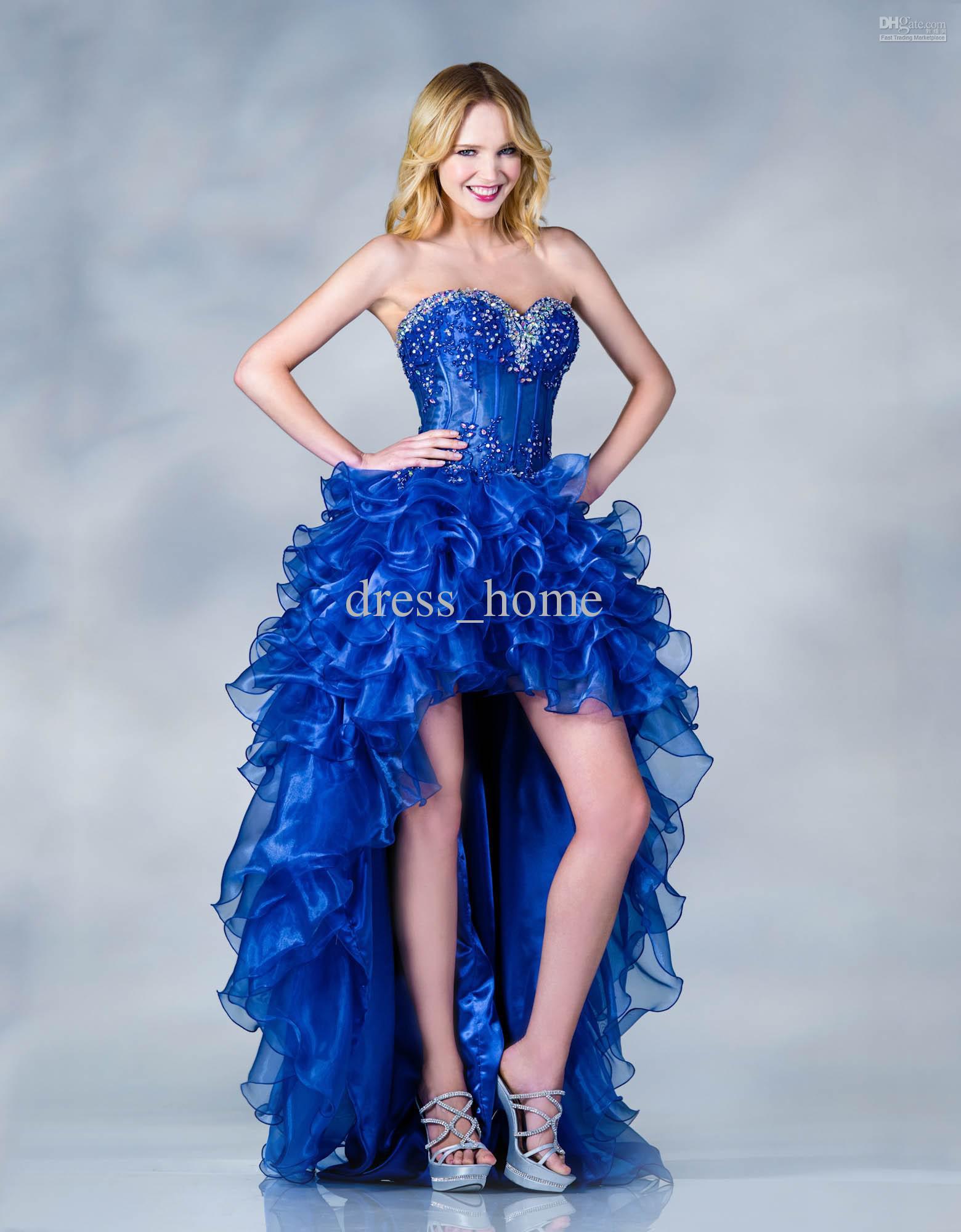 Vestidos de 15 anos cortos color azul (10)