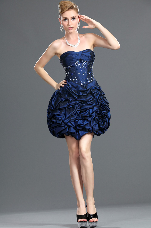 Vestidos de 15 anos cortos color azul (11)