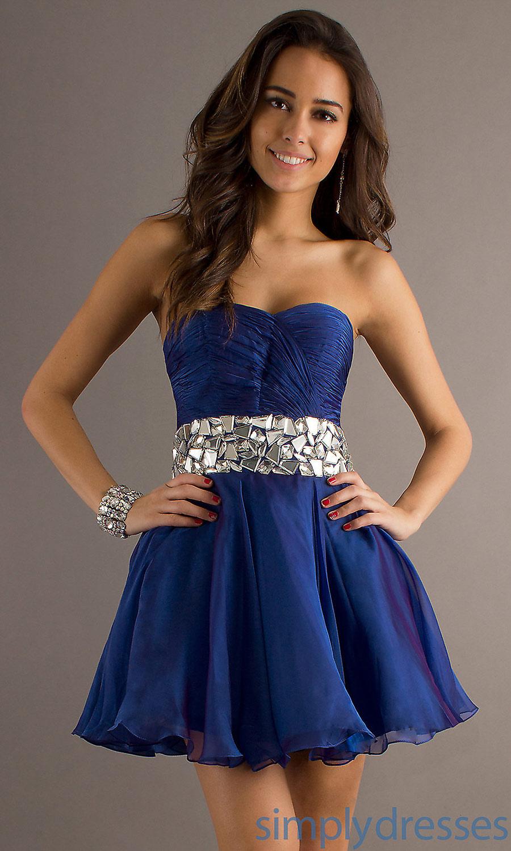 Vestidos color azul noche corto
