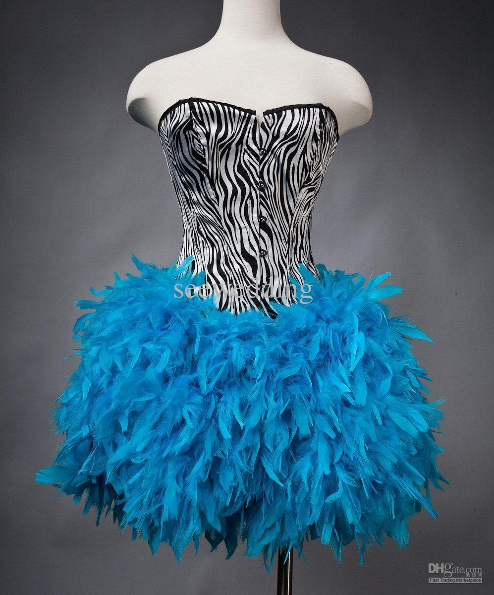 Vestidos de 15 anos cortos color azul (13)