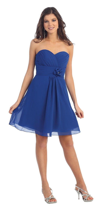 Vestidos de 15 anos cortos color azul (7)