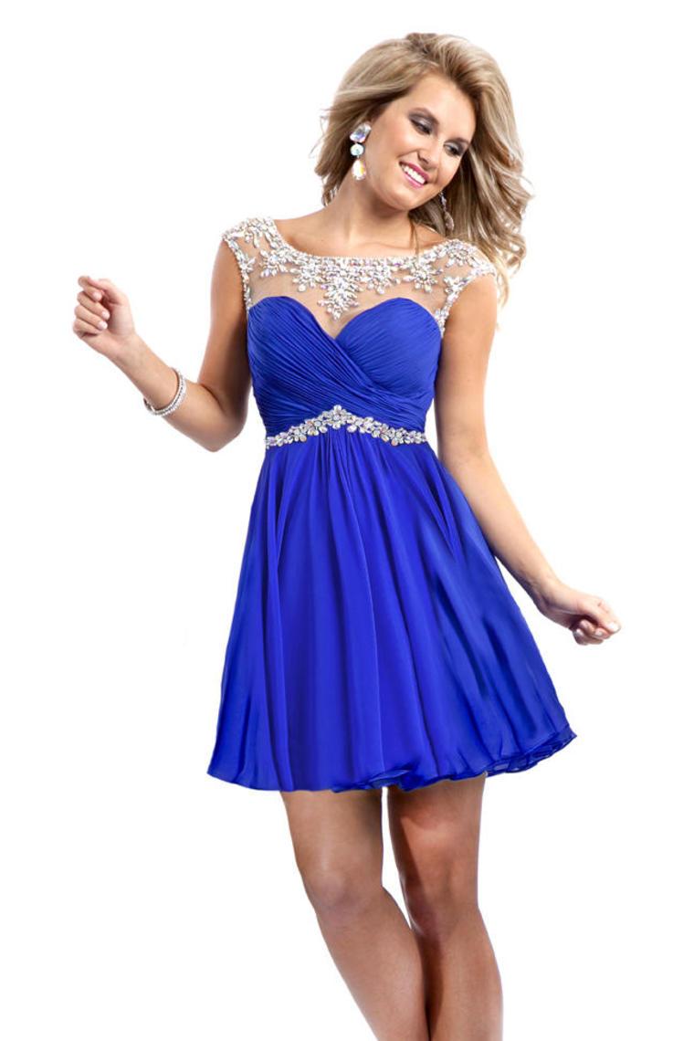 Vestido color azul pavo