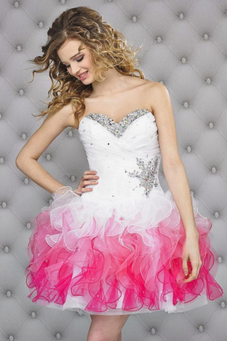 62a8be2f1 40 Vestidos de 15 años largos y cortos en color rosa - Vestidos Glam