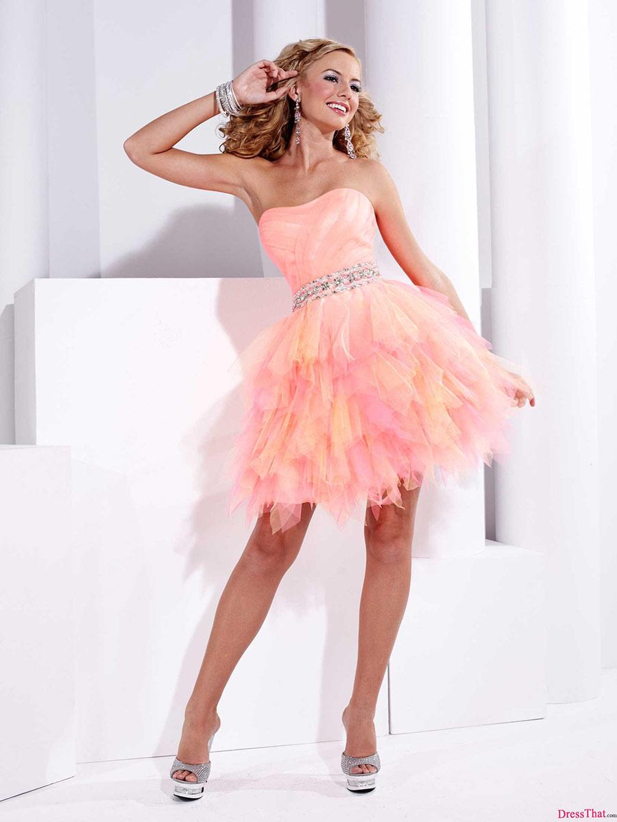 Siéntete Toda Una Princesa Con Estos Vestidos Cortos En Color Rosa ...
