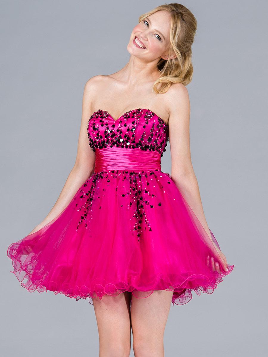 5c0779ddfd 40 Vestidos de 15 años largos y cortos en color rosa - Vestidos Glam