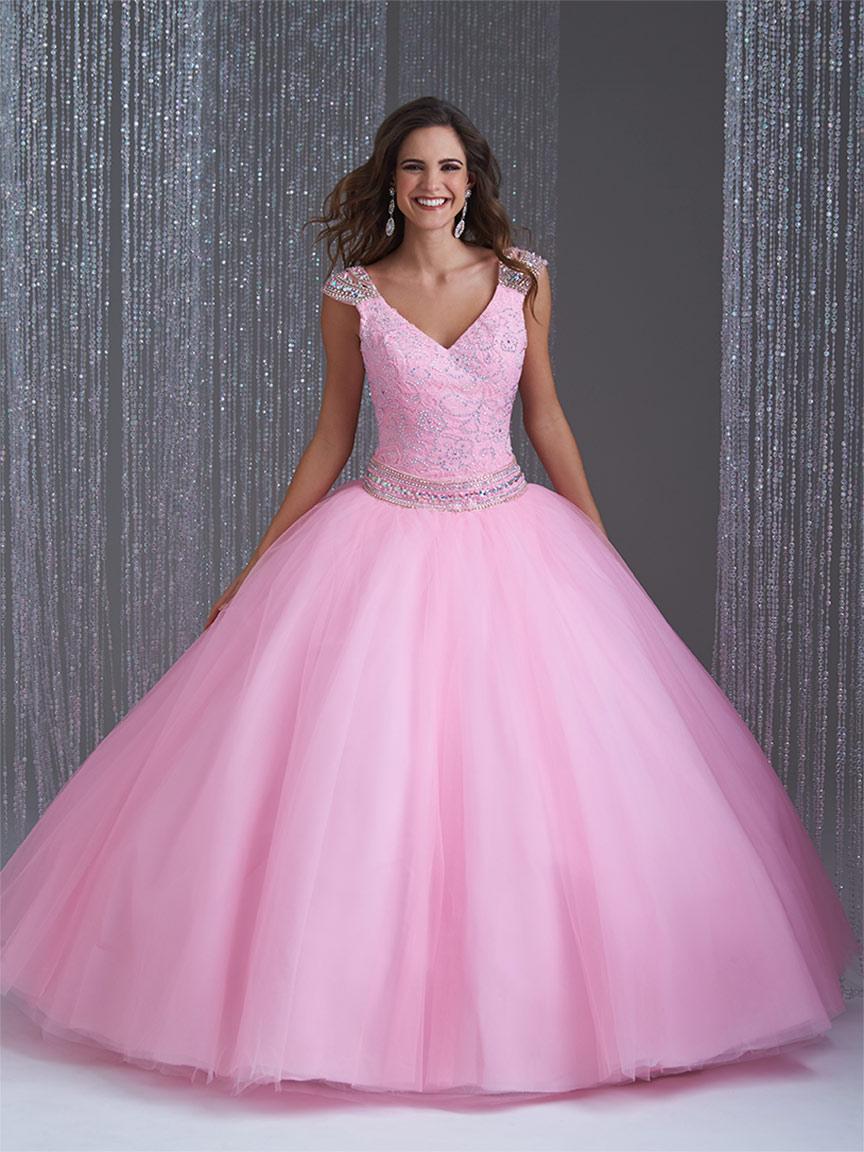 Vestidos de 15 anos largos color rosa (1)