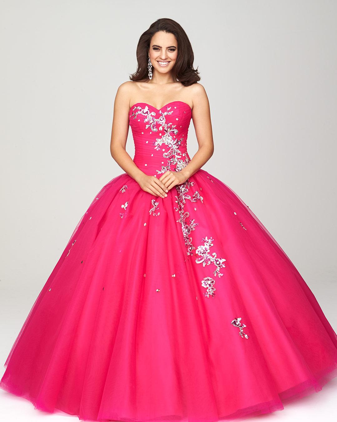 d6d0c05c8e 40 Vestidos de 15 años largos y cortos en color rosa - Vestidos Glam