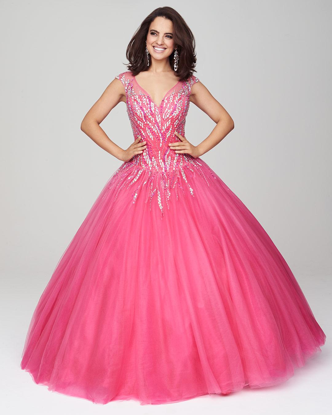 Vestidos de 15 anos largos color rosa (12)