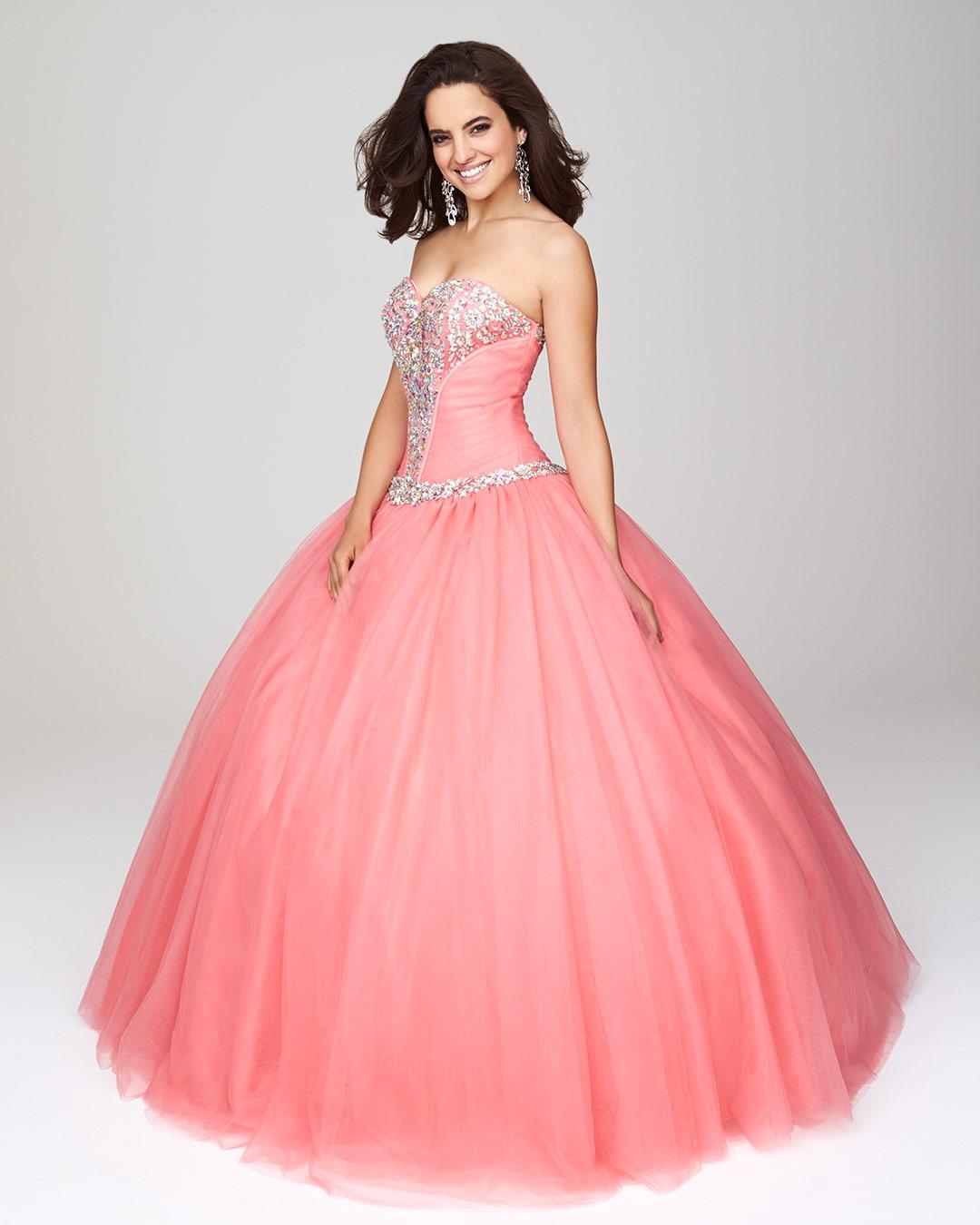 d28f3f559 40 Vestidos de 15 años largos y cortos en color rosa - Vestidos Glam