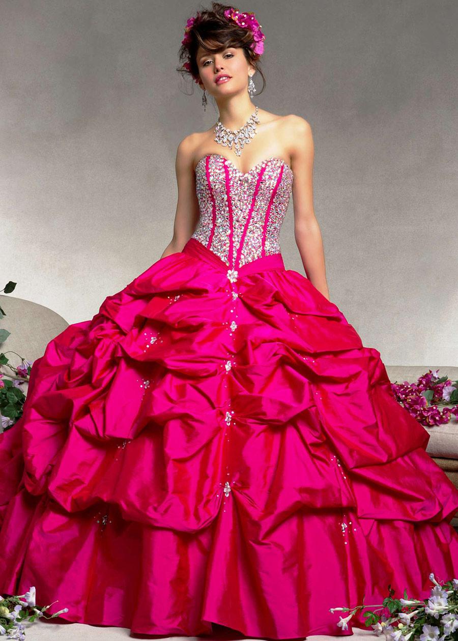 Vestidos de 15 anos largos color rosa (15)
