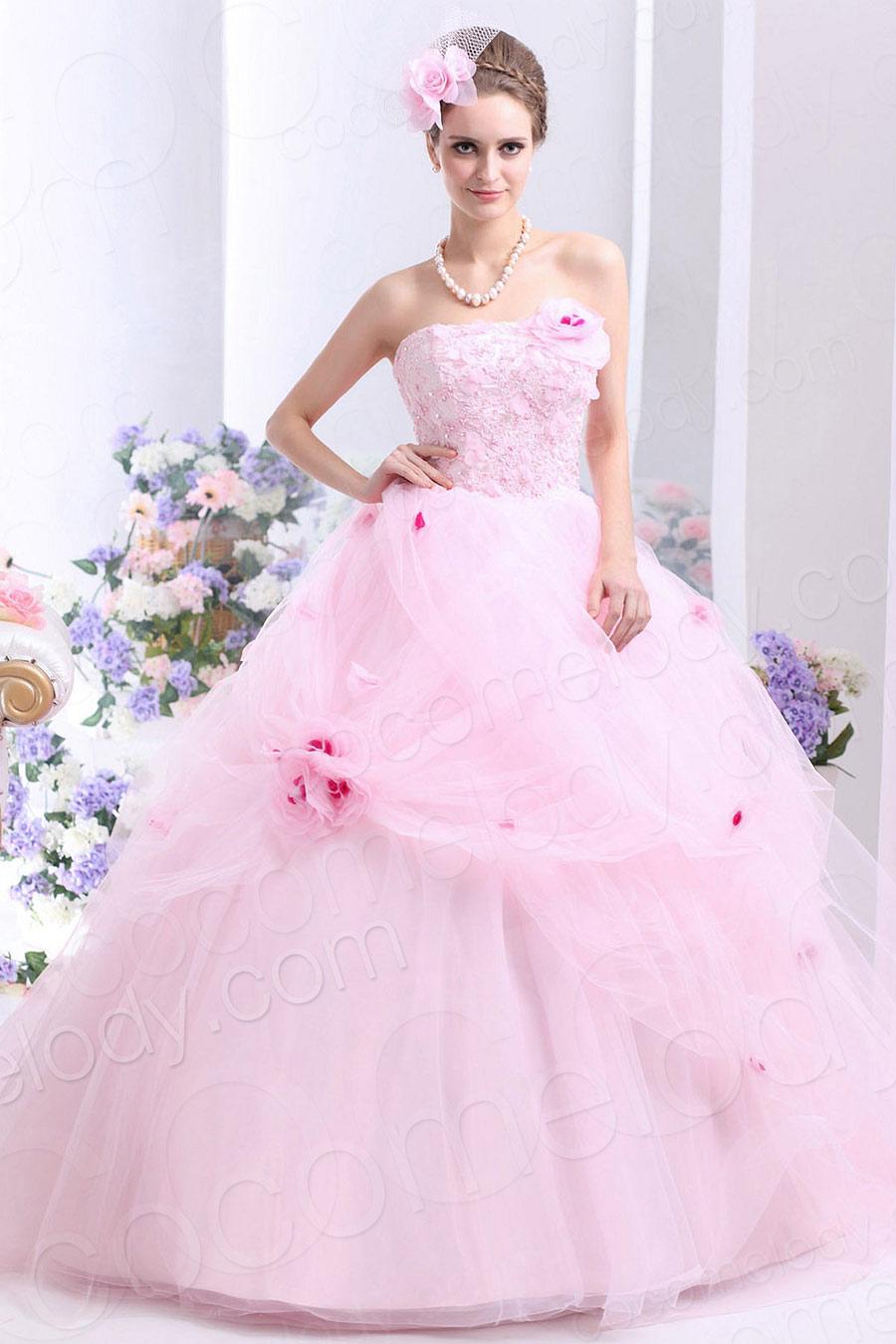 Vestidos de 15 anos largos color rosa (16)