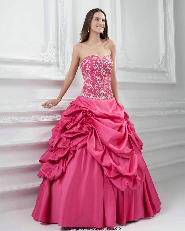 Vestidos de 15 anos largos color rosa (2)