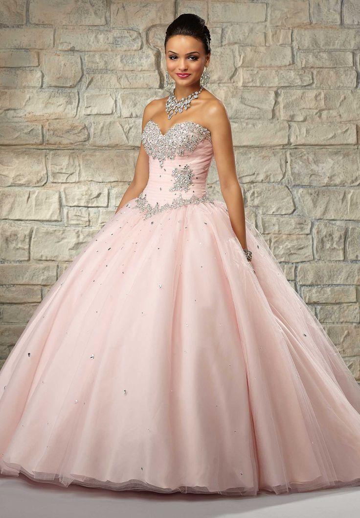 Vestidos de 15 anos largos color rosa (5)
