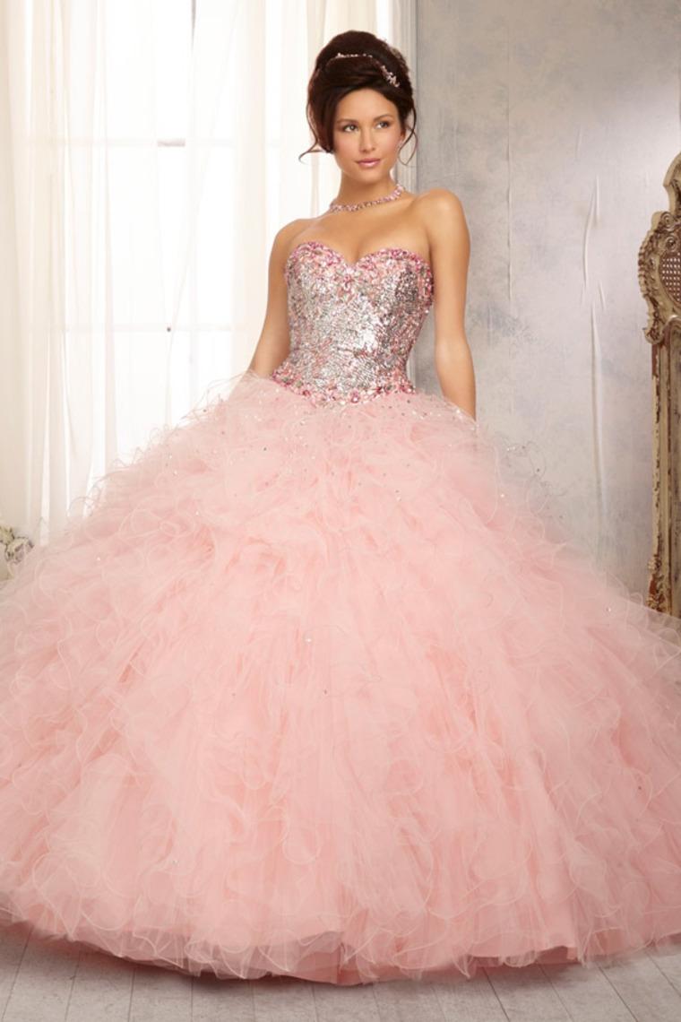 Vestidos De 15 Años Rosa Largos Y Cortos 2019 Fiesta Xv