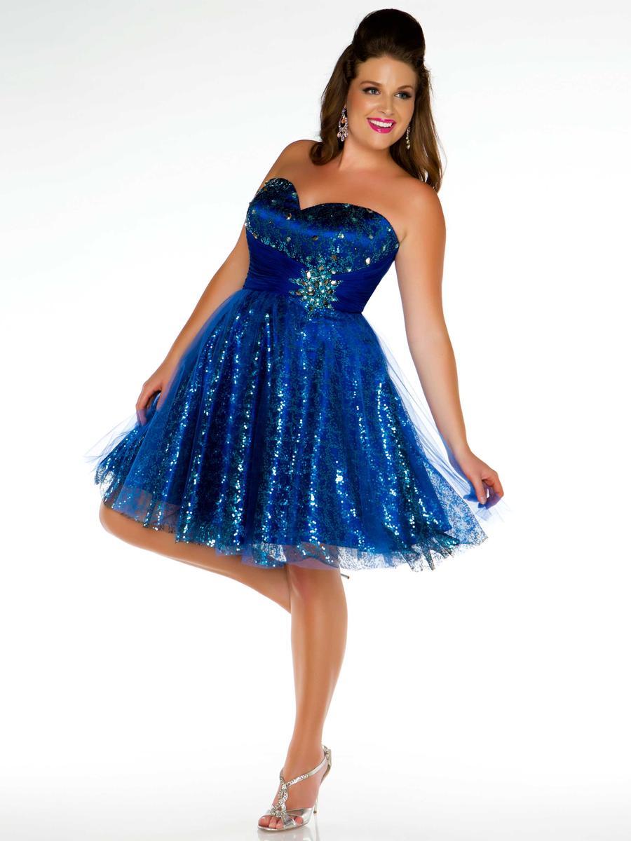Vestidos de 15 cortos color azul (23)