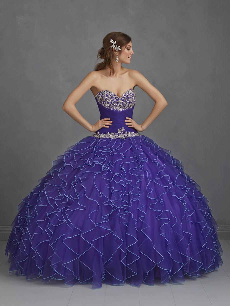 30 vestidos de 15 años largos y cortos en color azul - Vestidos Glam