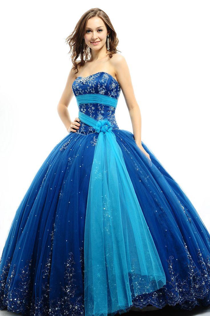 vestidos de 15 anos largos color azul (2)
