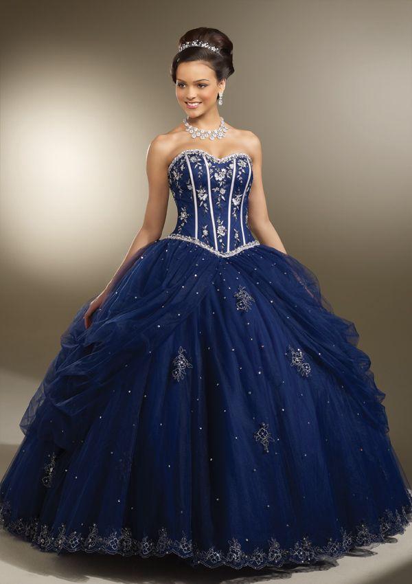 f626e0d3e 30 vestidos de 15 años largos y cortos en color azul - Vestidos Glam