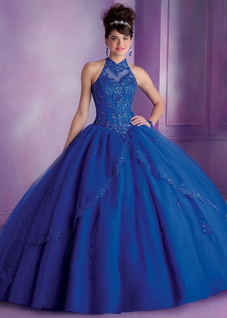 vestidos de 15 anos largos color azul (6)
