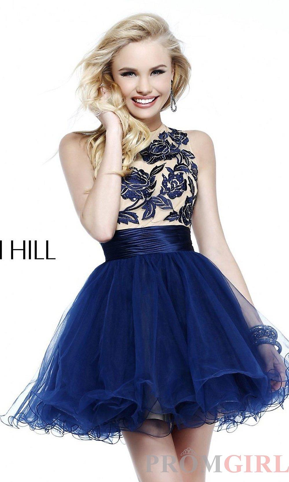 vestidos de XV anos cortos azul (3)