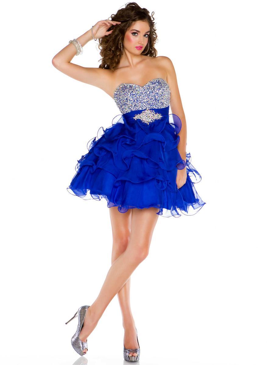 vestidos de XV anos cortos azul (6)