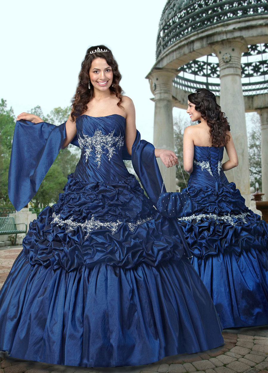 30 vestidos de 15 a os largos y cortos en color azul for Decoracion xv anos 2016