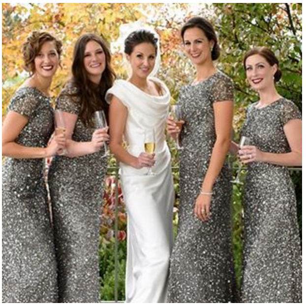Vestidos de moda para damas de boda