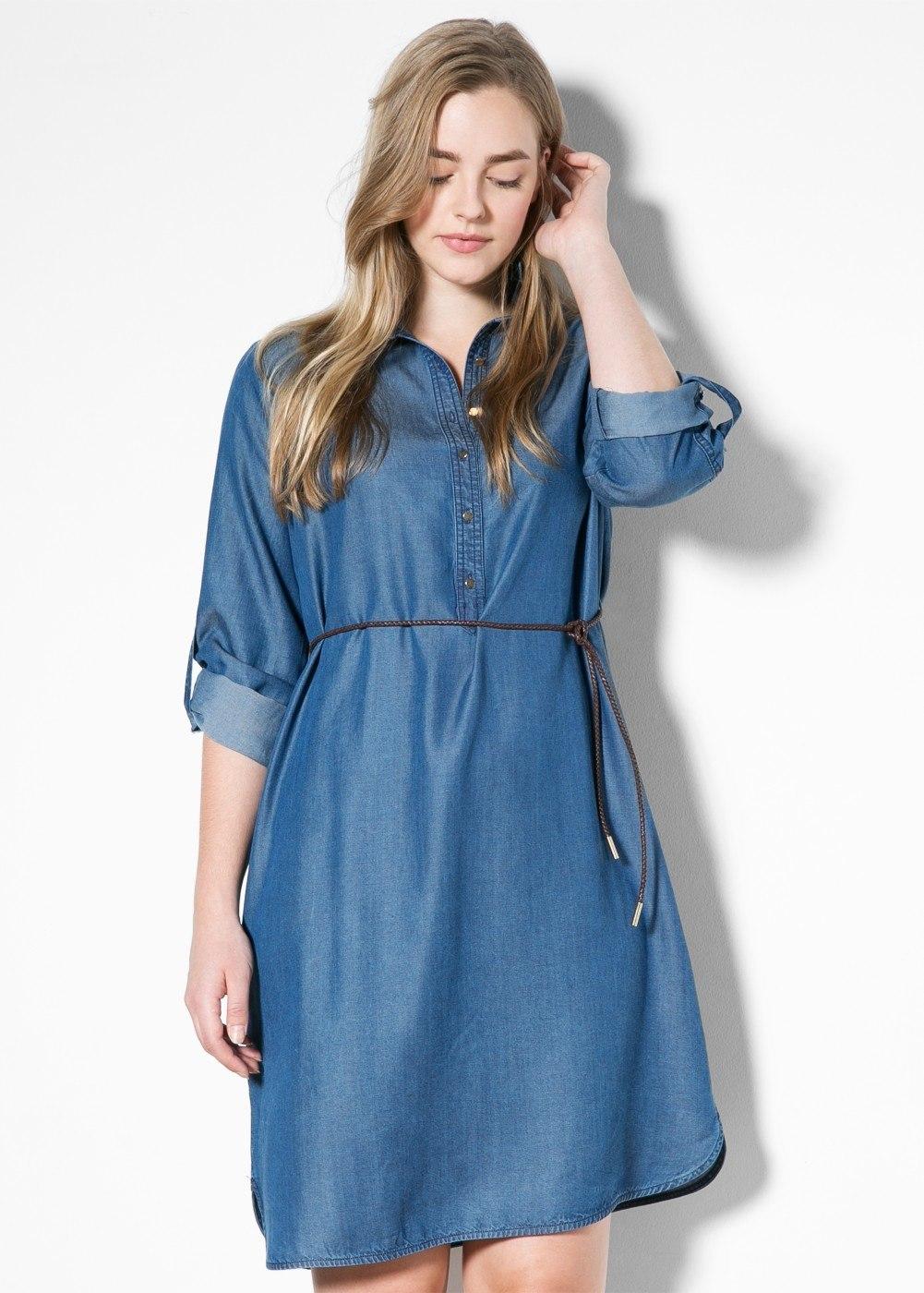 vestidos simples de navidad color azul (2)