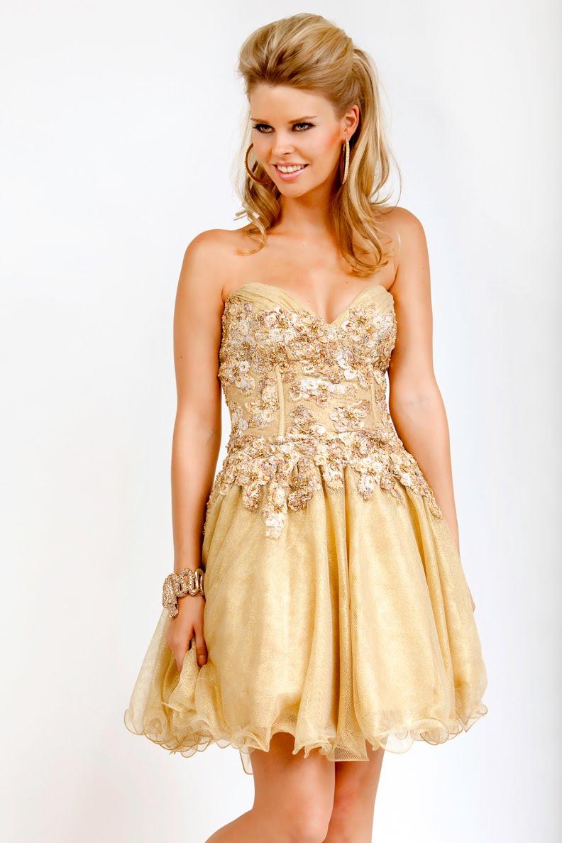 vestidos simples de navidad color dorado (1)