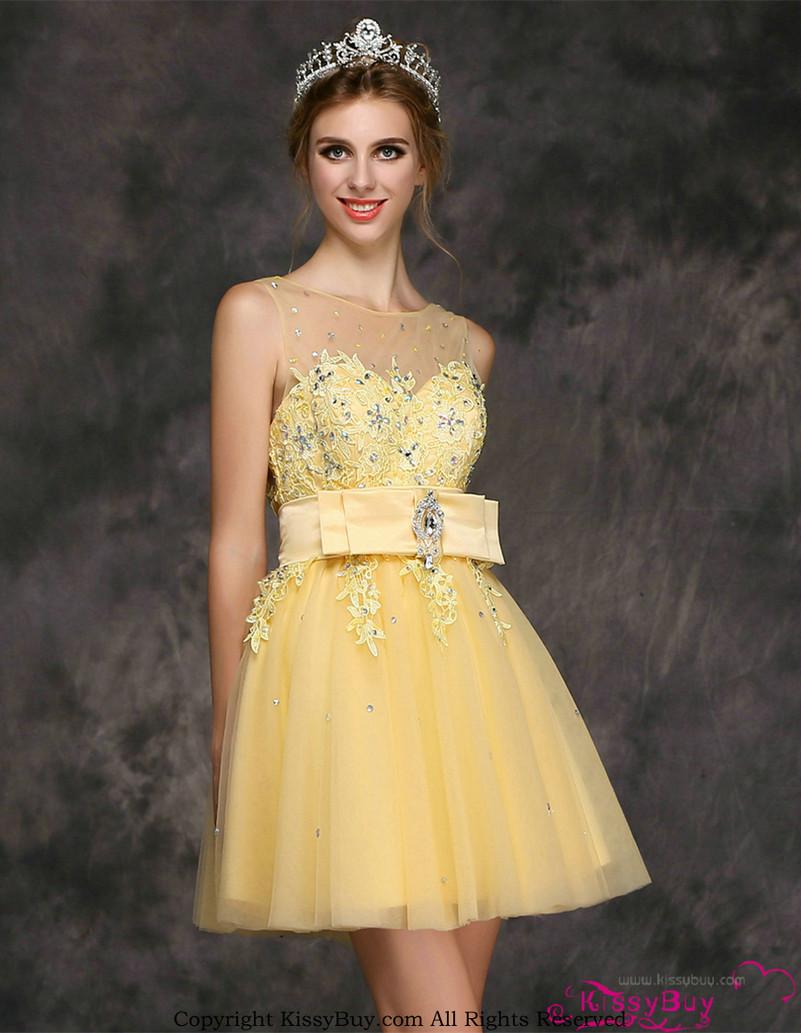 vestidos simples de navidad color dorado (5)