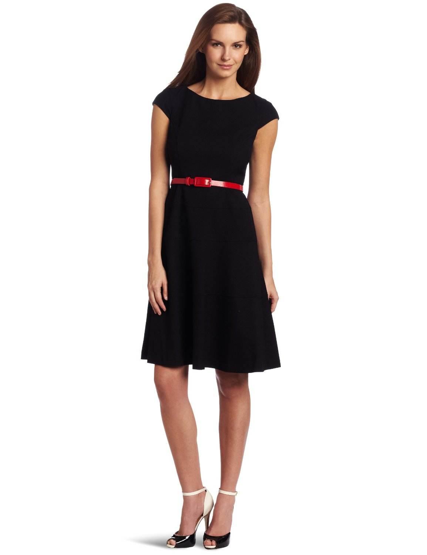 vestidos simples de navidad color negro (1)