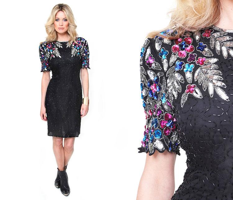 vestidos simples de navidad color negro (4)