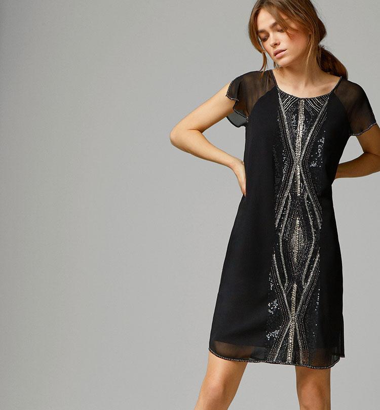 vestidos simples de navidad color negro (5)