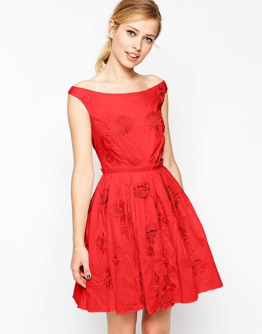 vestidos simples de navidad color rojo (1)