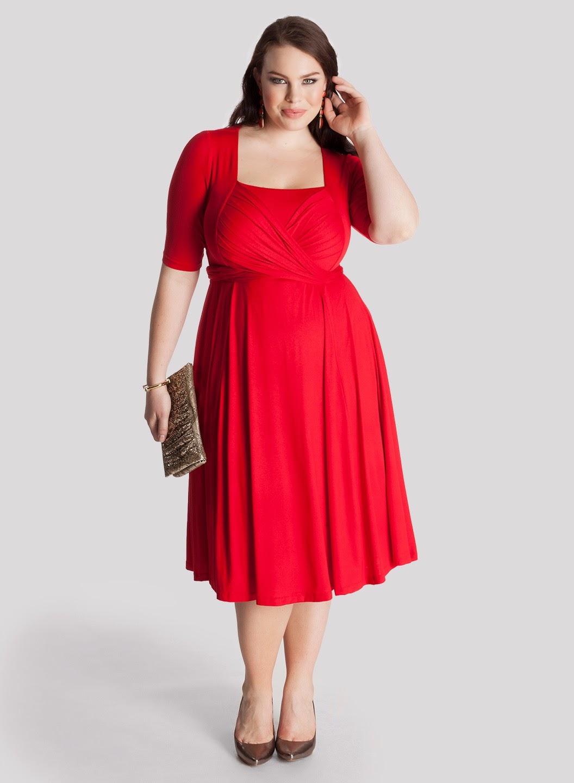 vestidos simples de navidad color rojo (3)