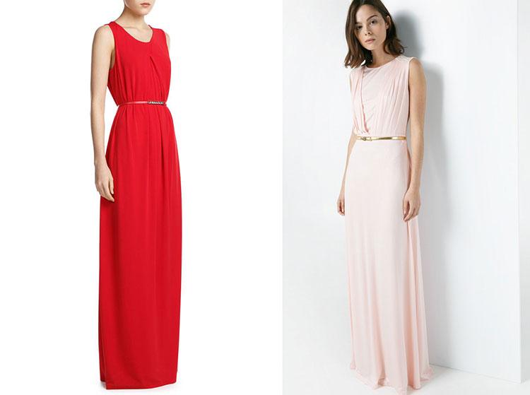 vestidos simples de navidad color rojo (6)