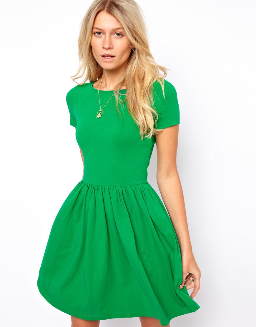 vestidos simples de navidad color verde (3)