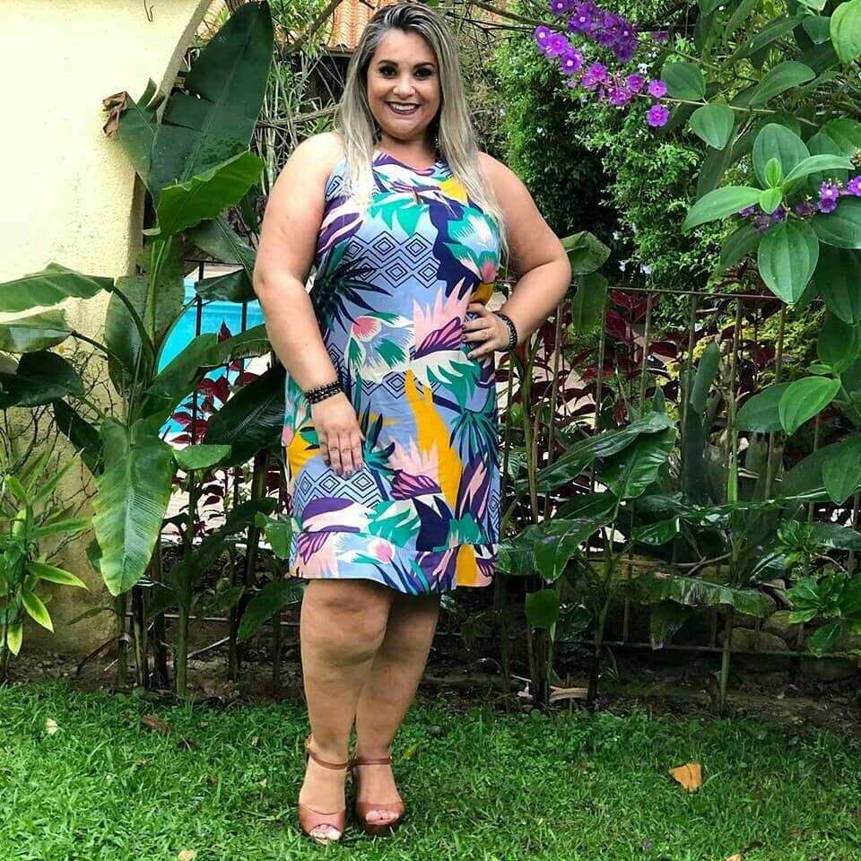 vestido de fiesta corto estampado para gorditas