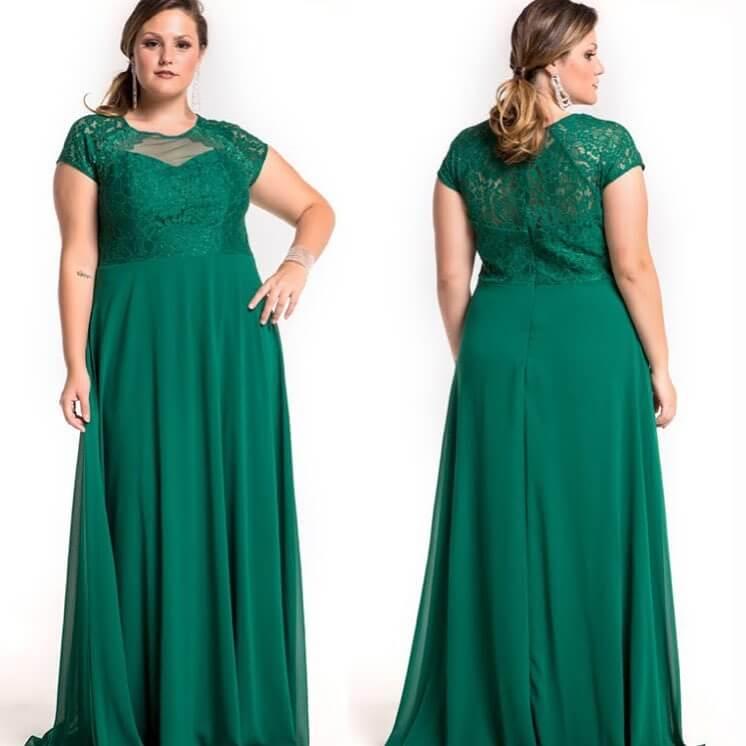 vestido de fiesta verde largo para gorditas